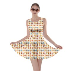 Colorful Fast Food Pattern Skater Dress