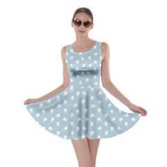 Blue Dental Pattern White Teeth On Blue Skater Dress