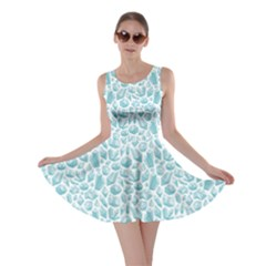 Blue Pattern With Various Crystals Shapes Skater Dress by CoolDesigns
