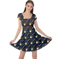 Dark Planets Of Solar System In Orbit Aorund The Sun Cap Sleeve Dress by CoolDesigns