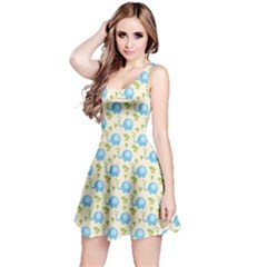 Yellow Tree Elephants Cute Pattern Sleeveless Dress by CoolDesigns