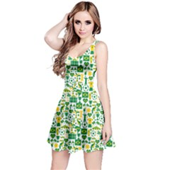 Green Brazil Country Foodball Shirts Flags Pattern Sleeveless Dress by CoolDesigns