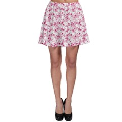 Pink Bunny Pattern Skater Skirt by CoolDesigns