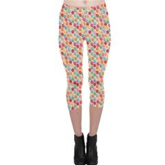 Colorful Bunch Of Colorful Balloons Pattern Capri Leggings by CoolDesigns