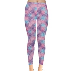 Purple Violet Abstract With Sparks Floral Leggings