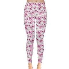 Pink Bunny Pattern Leggings by CoolDesigns