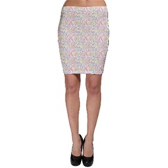 Gray Musical Instruments Pattern Bodycon Skirt by CoolDesigns