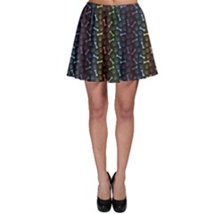 Black Animal Spectrum Pattern Of Paw Footprint And Skater Dress by CoolDesigns