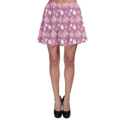 Violet Easter Rabbit With Eggs Pattern Skater Dress by CoolDesigns