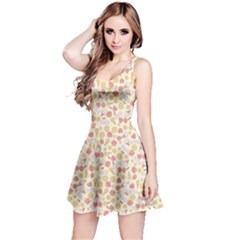 Colorful Kawaii Pattern With Cute Cakes Sleeveless Skater Dress