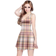 Pink Tartan Plaid Sleeveless Skater Dress by CoolDesigns