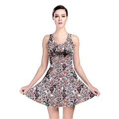 Colorful Cute Monsters Rabbit Pattern Colorful Reversible Skater Dress by CoolDesigns