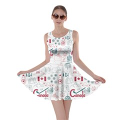 Colorful Fun Colorful Sketch Canada Pattern Skater Dress by CoolDesigns