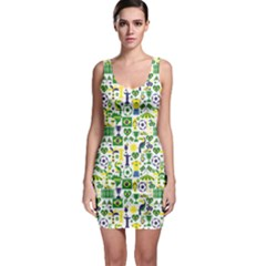 Green Brazil Pattern Stylish Design Bodycon Dress by CoolDesigns