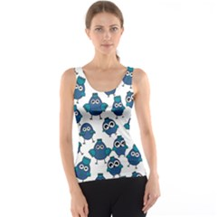 Blue Chicken Pattern Stylish Design Tank Top by CoolDesigns