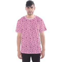 Pink Fancy Cakes Repeat Pattern Men s Sport Mesh Tee by CoolDesigns