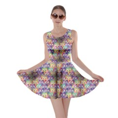 Purple Owls Pattern Skater Dress by CoolDesigns