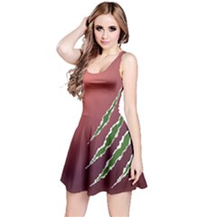 Indian Red Slug Scratch Design Sleeveless Dress by CoolDesigns