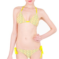 Yellow Cock Chicken Pattern Bikini Set by CoolDesigns