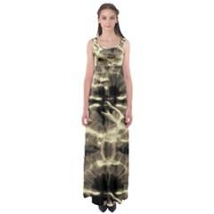 Beige Tie Dye Empire Waist Maxi Dress by CoolDesigns