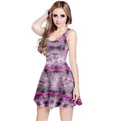 Pink Gray Tie Dye Sleeveless Dress by CoolDesigns
