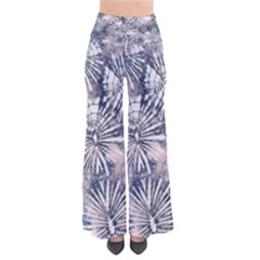Dull Blue Tie Dye 3 Chic Palazzo Pants by CoolDesigns