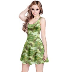 Green 1 Camouflage Pattern Reversible Sleeveless Dress by CoolDesigns