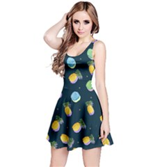 Pineapple In Space Reversible Sleeveless Dress by CoolDesigns