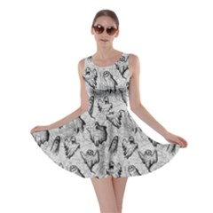 Light Ghost Halloween Skater Dress by CoolDesigns