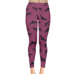 Magenta Shark Leggings