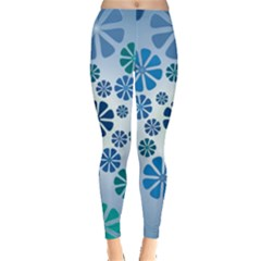 Geometric Flower Stair Leggings