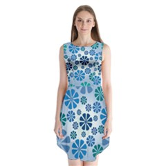 Geometric Flower Stair Sleeveless Chiffon Dress   by Alisyart