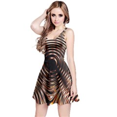 Gold Waves Circles Water Wave Circle Rings Reversible Sleeveless Dress