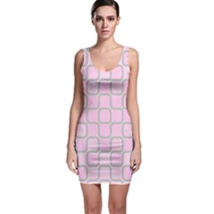 Light Pastel Pink Sleeveless Bodycon Dress by Alisyart
