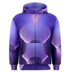 Lines Lights Space Blue Purple Men s Zipper Hoodie