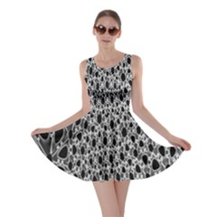 X Ray Rendering Hinges Structure Kinematics Circle Star Black Grey Skater Dress
