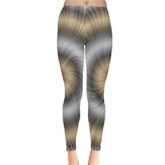Prismatic Waves Gold Silver Leggings