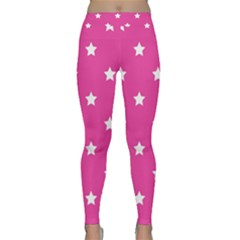Stars Pattern Classic Yoga Leggings by Valentinaart