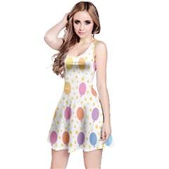 Balloon Star Rainbow Reversible Sleeveless Dress by Mariart