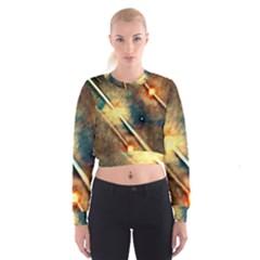 Light Space Women s Cropped Sweatshirt by DeneWestUK