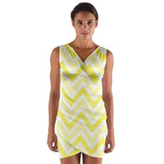 Zig Zags Pattern Wrap Front Bodycon Dress by Valentinaart