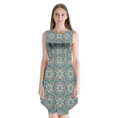 Decorative Ornamental Geometric Pattern Sleeveless Chiffon Dress   by TastefulDesigns