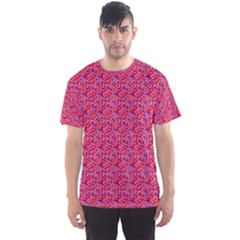 Red White And Blue Leopard Print  Men s Sport Mesh Tee by PhotoNOLA