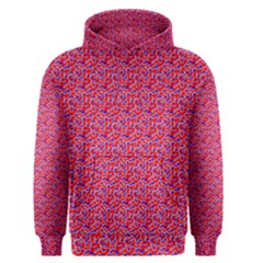 Red White And Blue Leopard Print  Men s Pullover Hoodie by PhotoNOLA