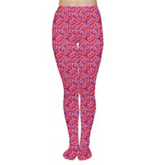 Red White And Blue Leopard Print  Women s Tights by PhotoNOLA