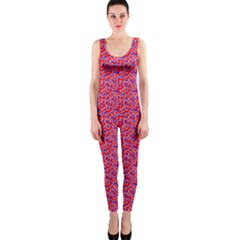 Red White And Blue Leopard Print  Onepiece Catsuit by PhotoNOLA