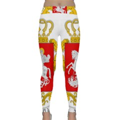 Greater Coat Of Arms Of Georgia  Classic Yoga Leggings by abbeyz71