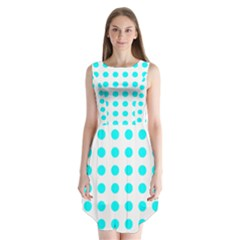 Polka Dot Blue White Sleeveless Chiffon Dress   by Mariart