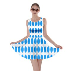 Polka Dots Blue White Skater Dress by Mariart