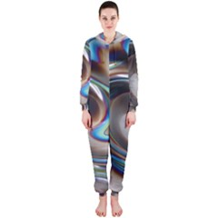 Twirl Liquid Crystal Hooded Jumpsuit (ladies)  by Simbadda